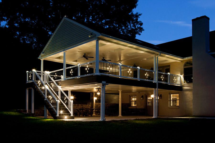 outdoor deck lights photo - 3