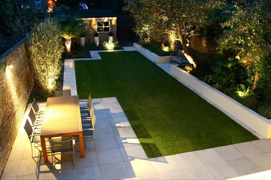 outdoor garden wall lights photo - 2