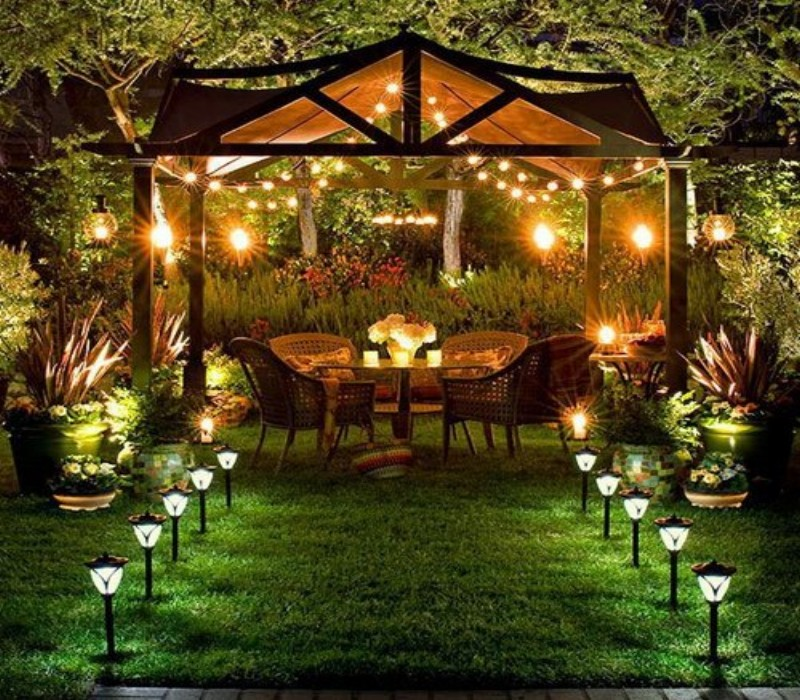 outdoor gazebo lights photo - 9