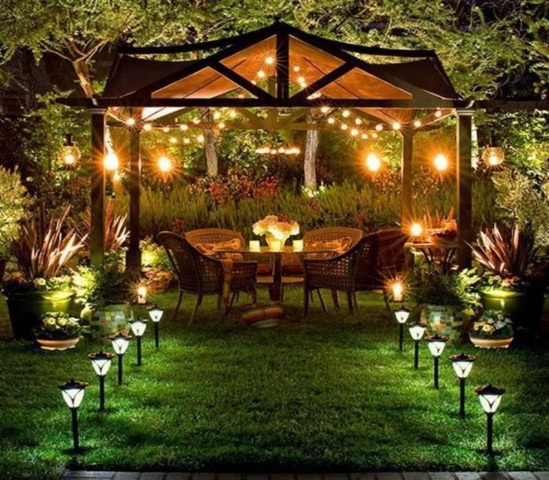 outdoor gazebo lights photo - 9