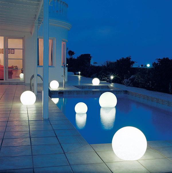 outdoor globe lights photo - 1