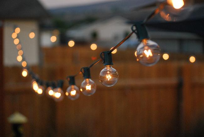 outdoor globe lights photo - 2