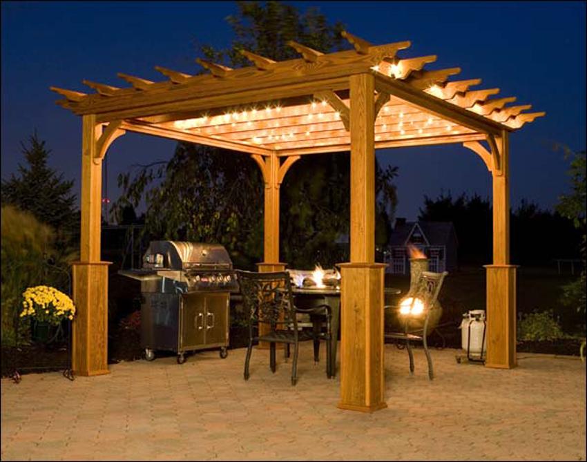 outdoor patio wall lights photo - 4