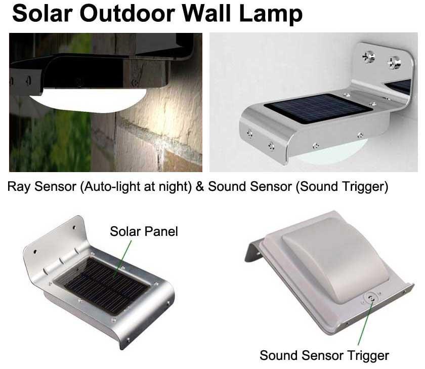 Solar Outdoor Security Light: outdoor solar wall lights photo - 6,Lighting