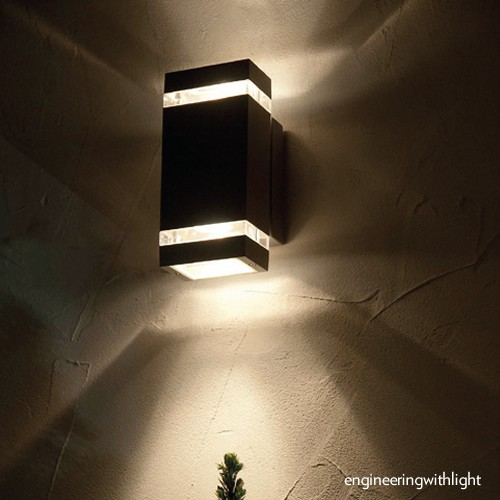 outdoor up and down wall light photo - 1
