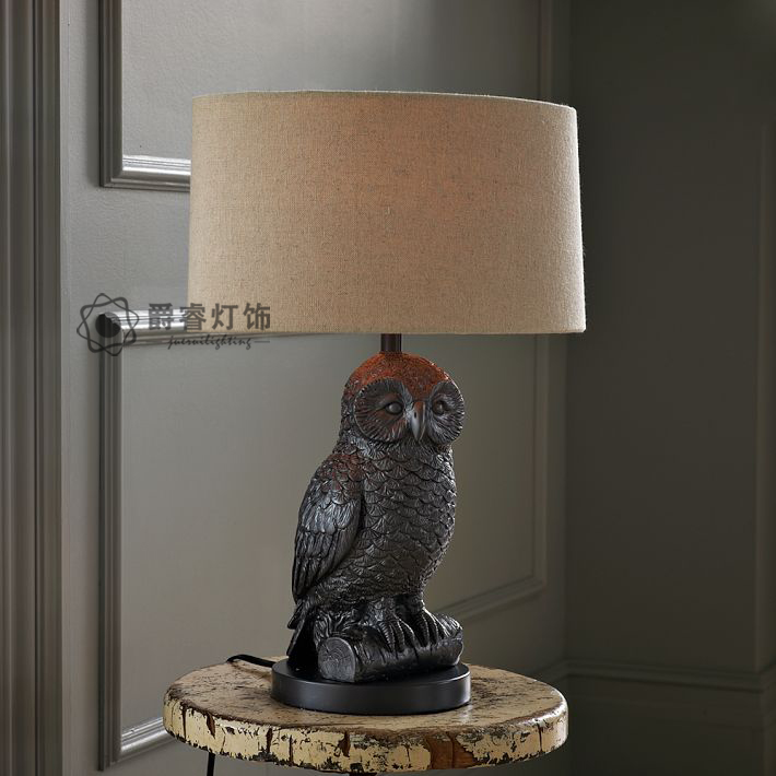 owl table lamp photo - 5