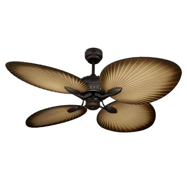 palm frond ceiling fan photo - 1