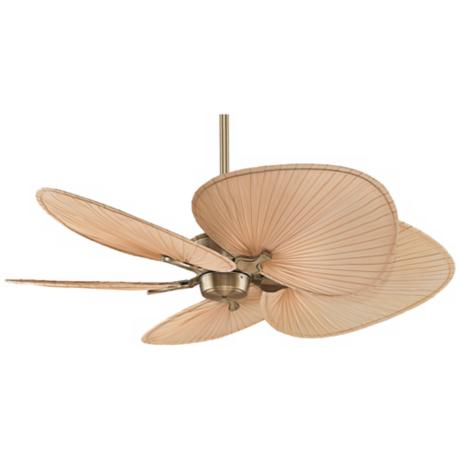 palm frond ceiling fan photo - 3