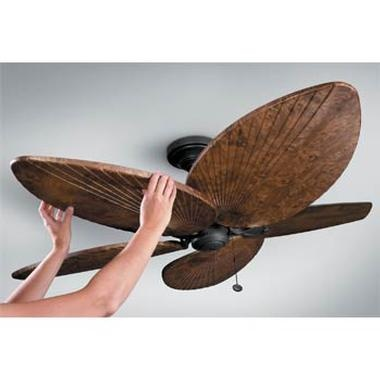 palm frond ceiling fan photo - 4