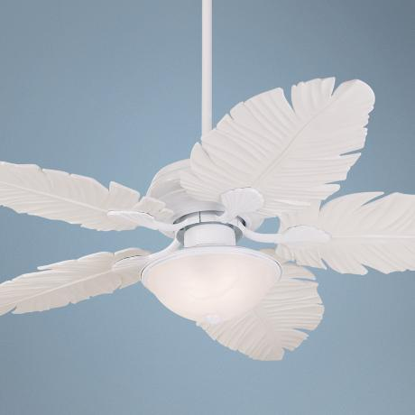 palm frond ceiling fan photo - 5