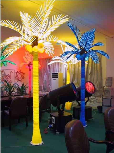 palm tree lamps photo - 2