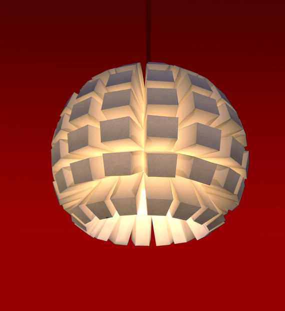 Large Paper Ceiling Lamp Shade Designs