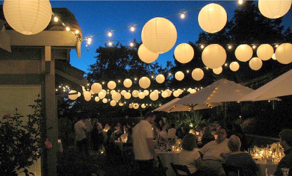 paper lantern lights outdoor photo - 2