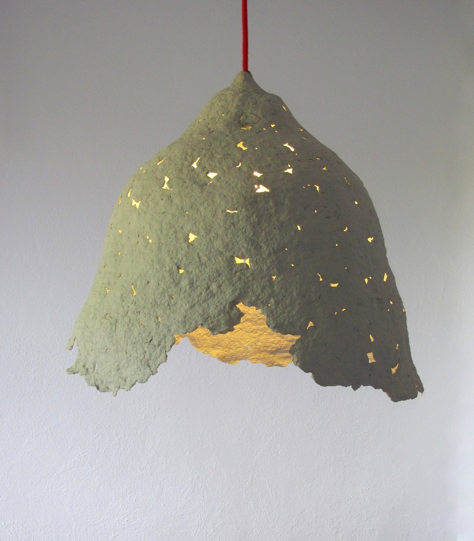 paper mache lamp photo - 3