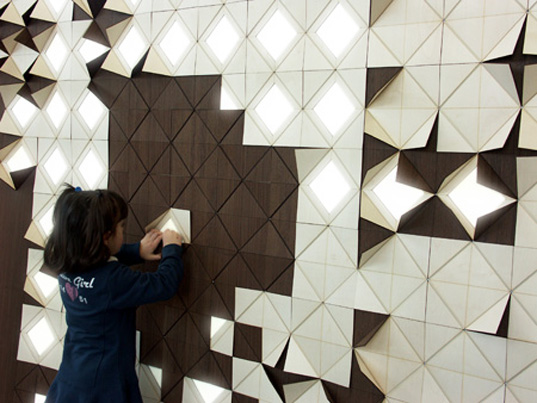 paper wall lights photo - 3