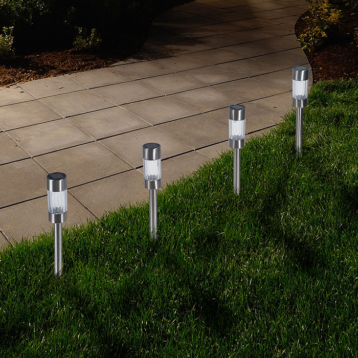 pathway solar lights outdoor photo - 1