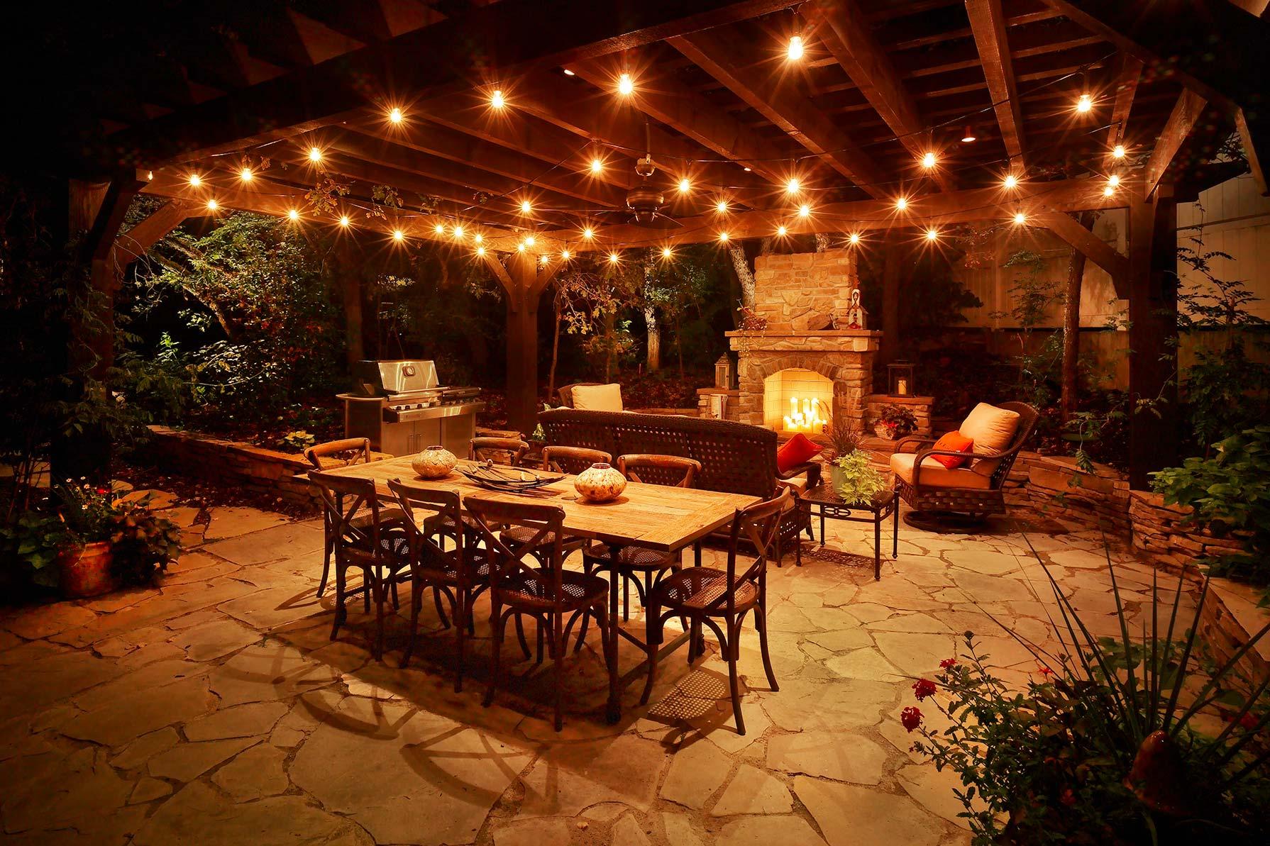 patio outdoor lights photo - 6