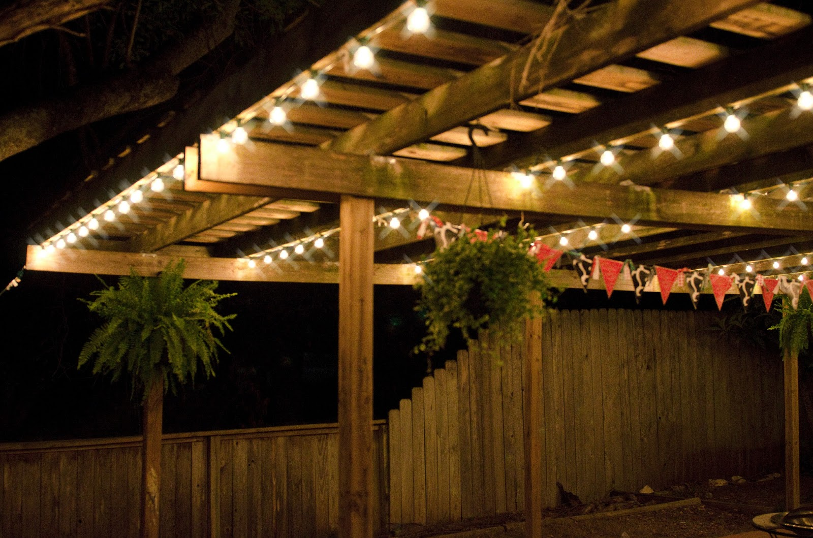 patio wall lights photo - 2
