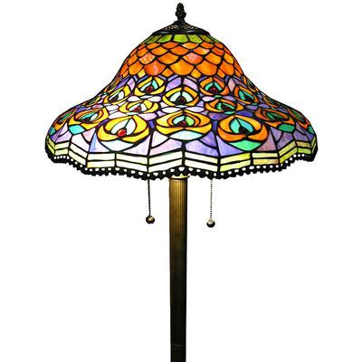 peacock floor lamp photo - 1