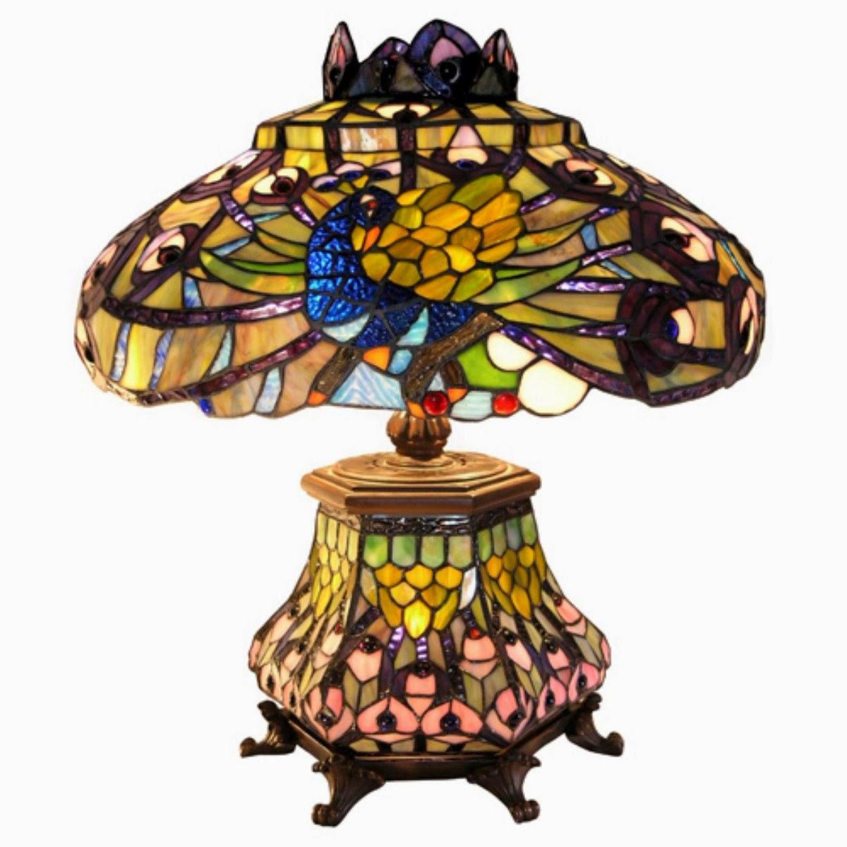 peacock floor lamp photo - 3