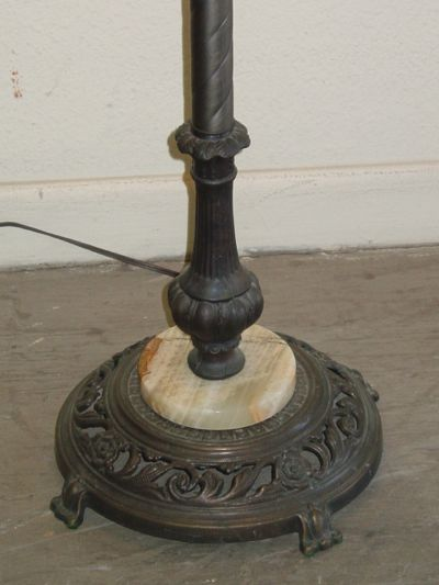 peacock floor lamp photo - 6
