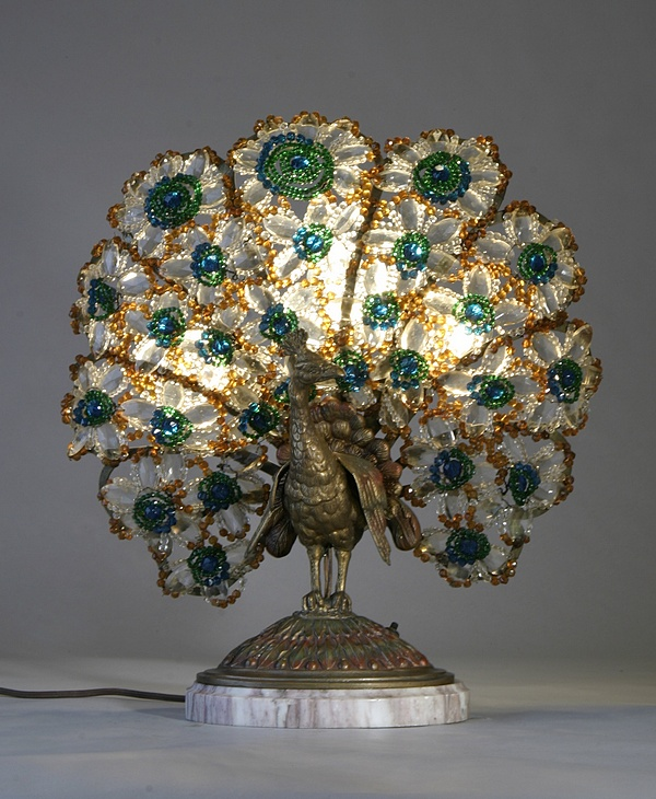 peacock tiffany lamp photo - 1