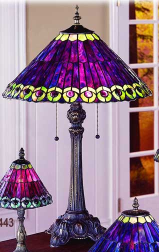 peacock tiffany lamp photo - 2