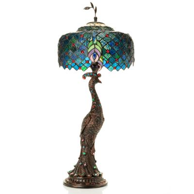 peacock tiffany lamp photo - 4
