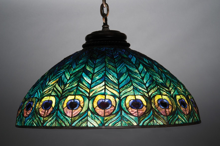 peacock tiffany lamp photo - 6
