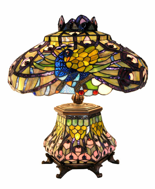 peacock tiffany lamp photo - 7