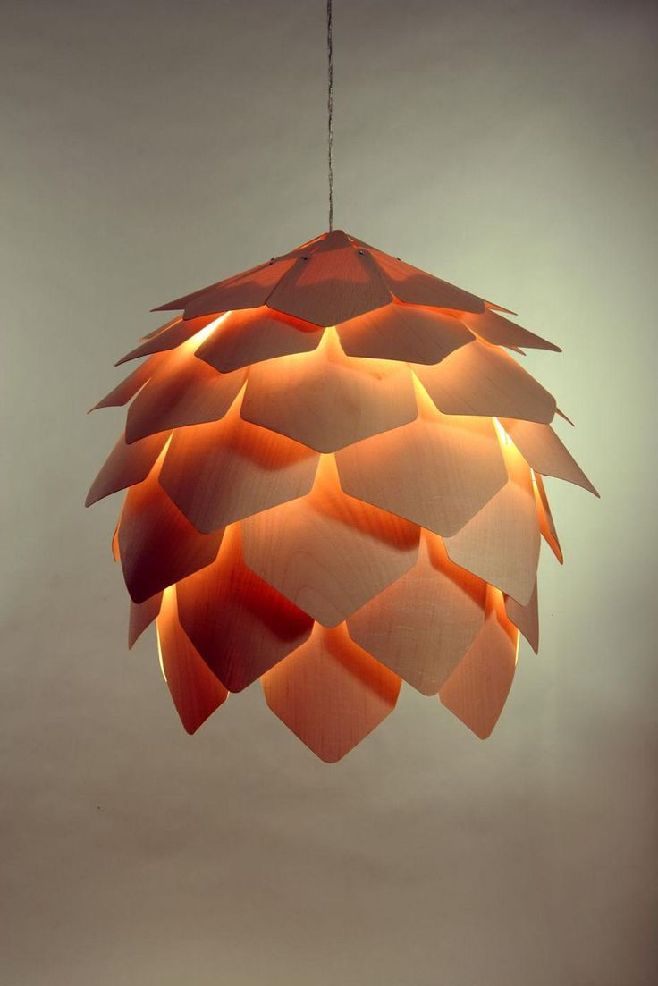 pine cone lamps photo - 9