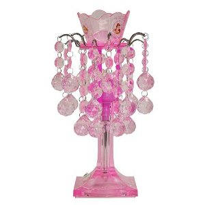 pink chandelier lamp photo - 6