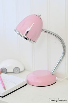 pink desk lamp photo - 7