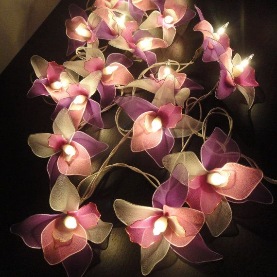 pink flower wall light photo - 9