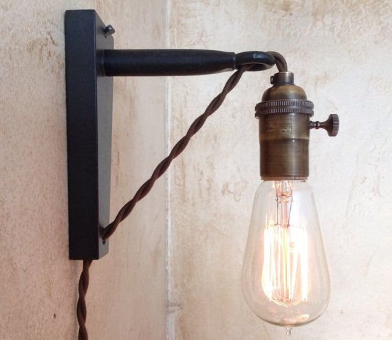 plug in sconce wall light photo - 6
