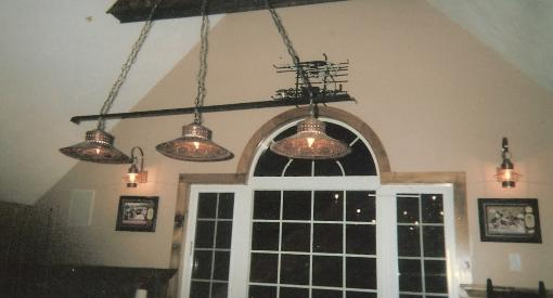 pool table ceiling lights photo - 2