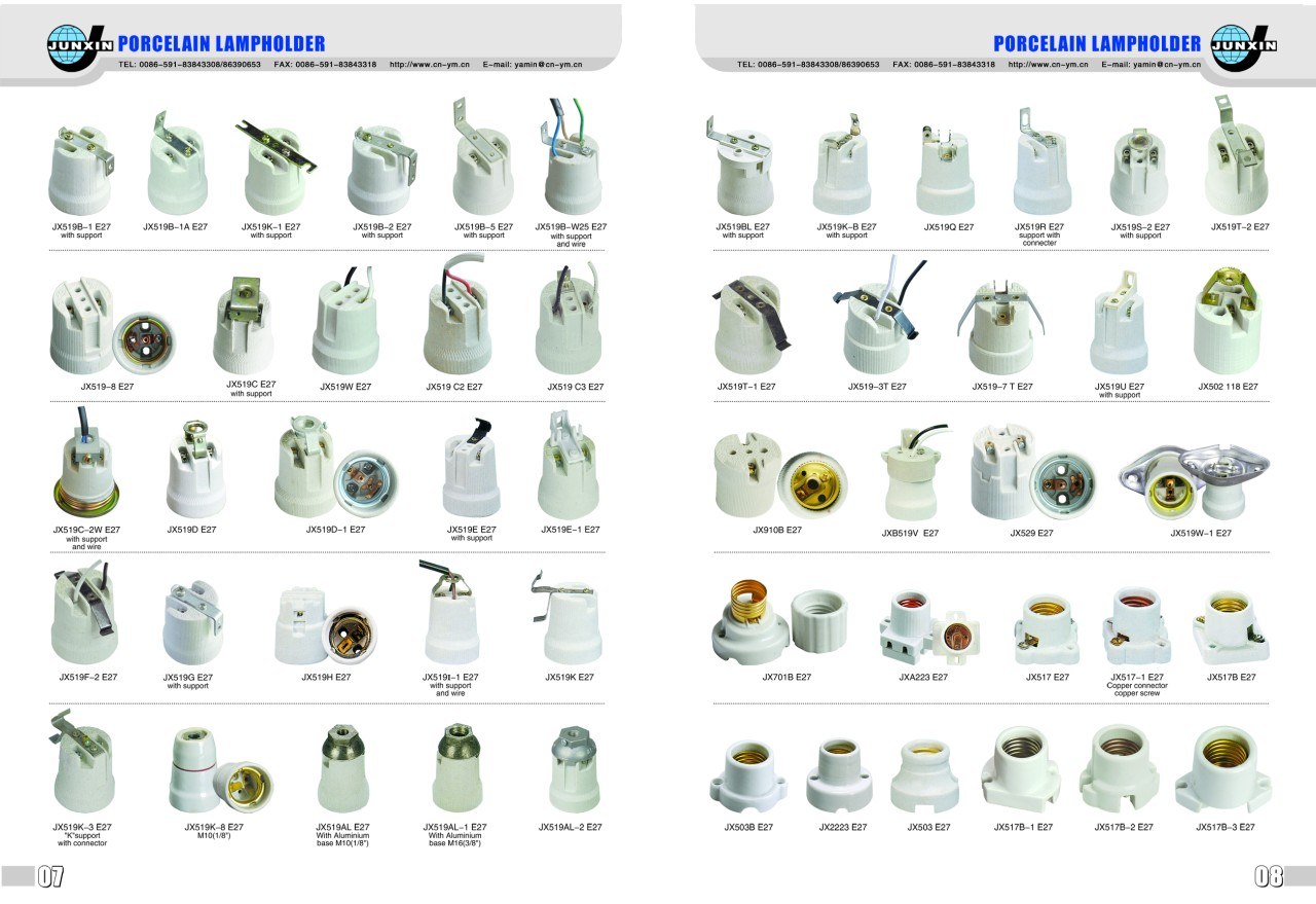 porcelain lamp holder photo - 10