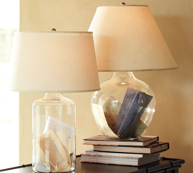 pottery barn glass lamps photo - 5