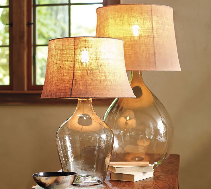 pottery barn glass lamps photo - 9