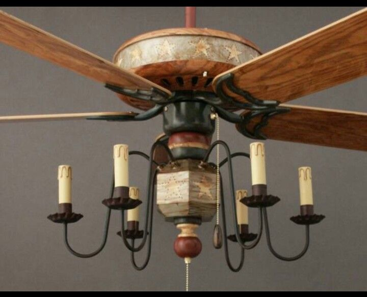 primitive ceiling fans photo - 7