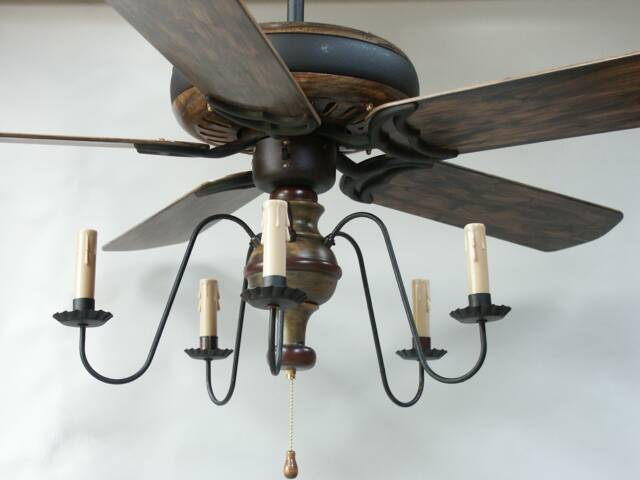 primitive ceiling fans photo - 9
