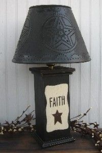 primitive table lamps photo - 5