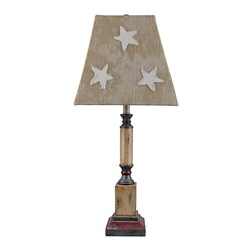 primitive table lamps photo - 9