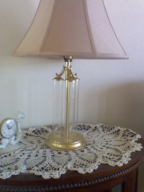 princess house crystal lamp photo - 5