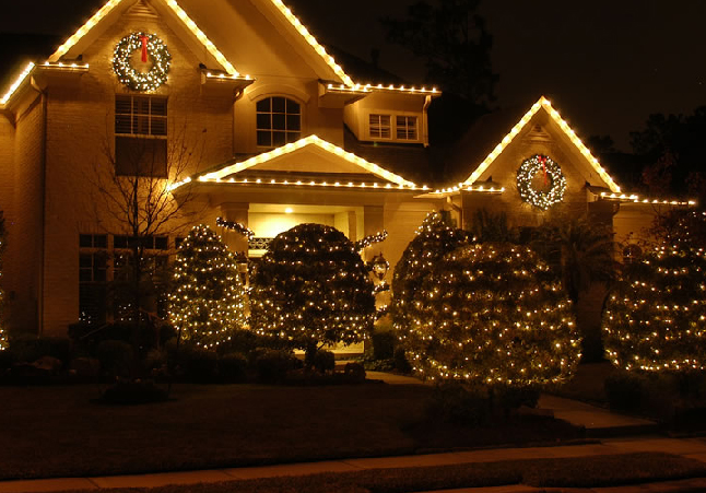 professional outdoor christmas lights photo - 1