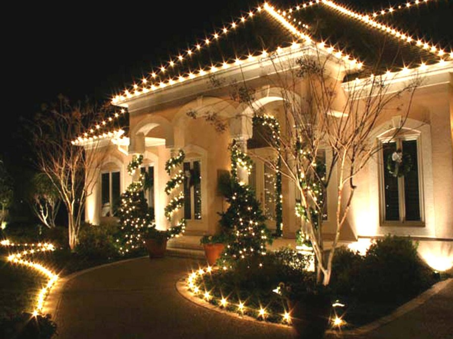 professional outdoor christmas lights photo - 2
