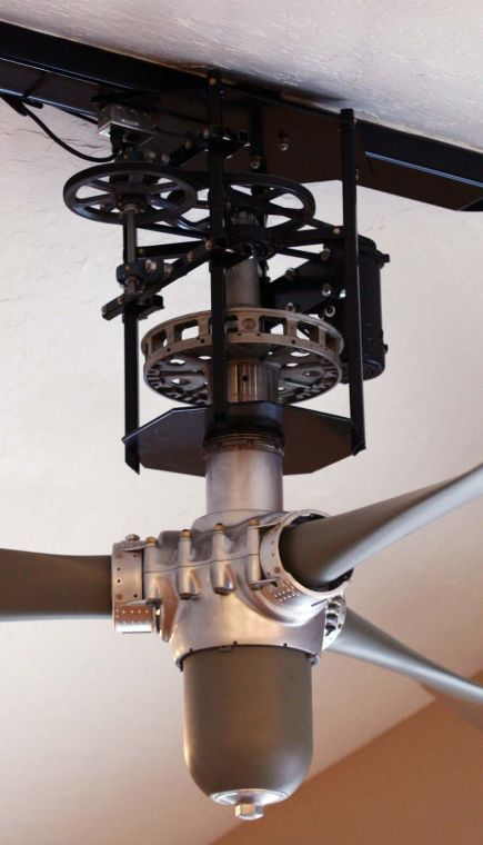 Prop Ceiling Fan Provides A Fashionable Appearance To