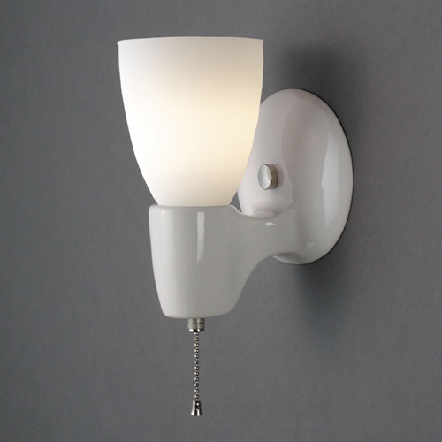 pull chain wall light fixture photo - 2