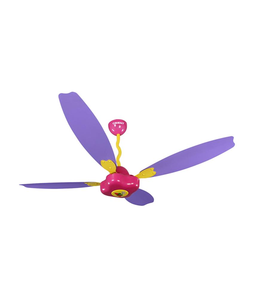 purple ceiling fan photo - 7