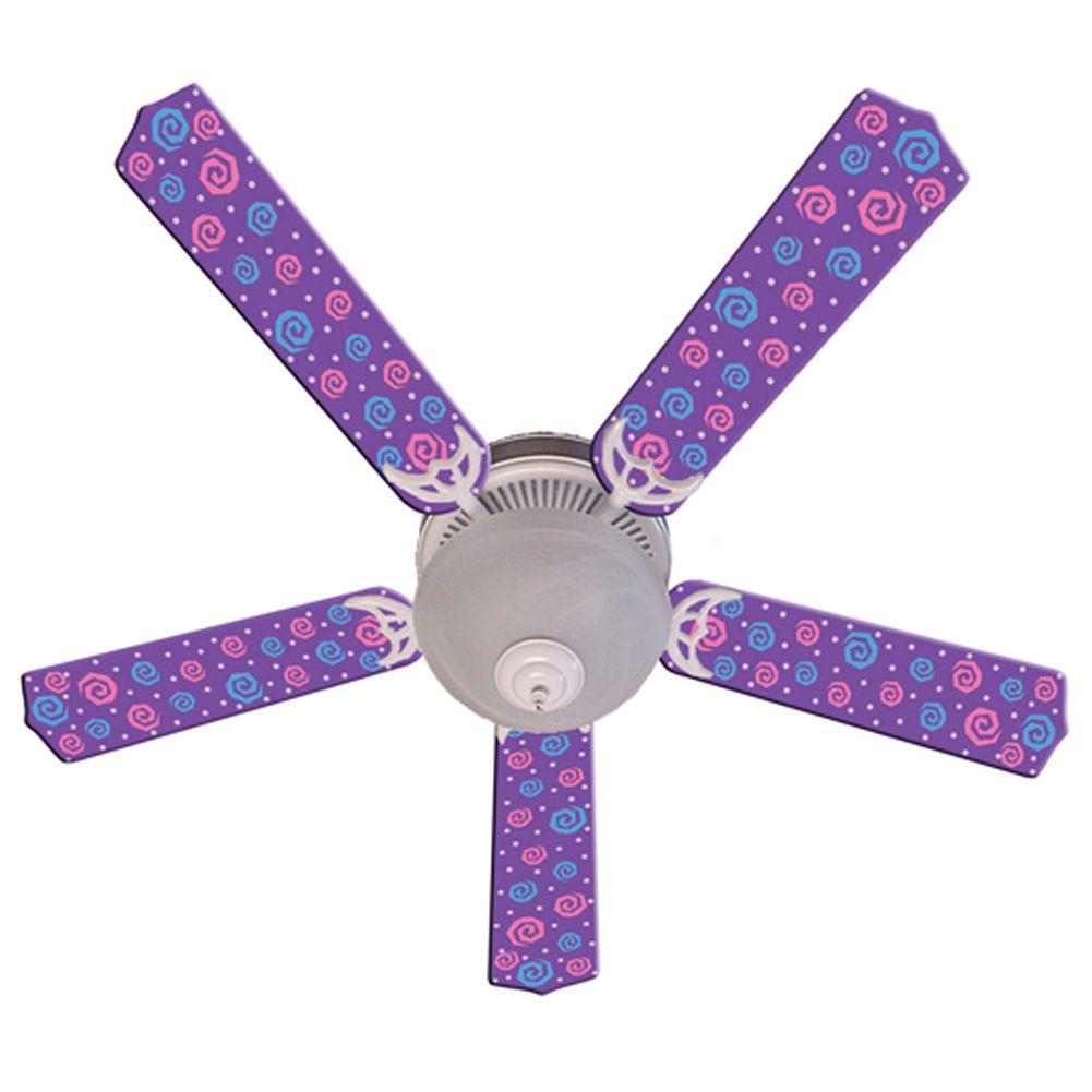 purple ceiling fan photo - 8